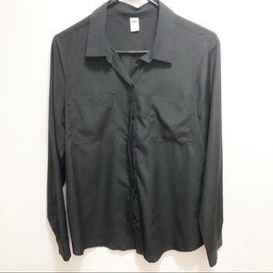 Old Navy Black Button Down Shirt | Size Medium